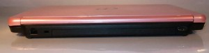 Fujitsu LifeBook LH772 notebook rear view