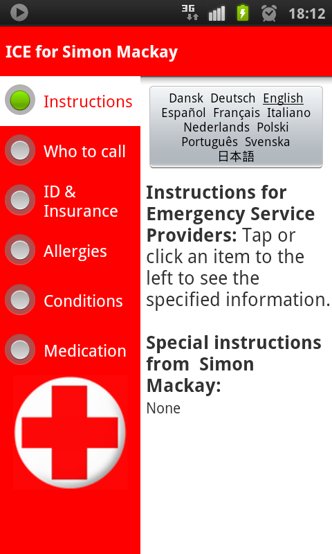 ICE In Case of Emergency Android