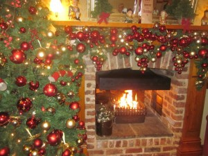 Christmas fireplace decoration - courtesy Shinead Feehan
