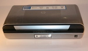 HP OfficeJet 150 mobile multifunction printer closed up