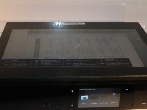 HP Envy 120 designer all-in-one printer see-through scanner lid