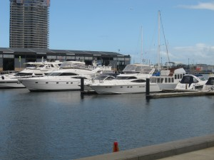 Pleasure-boats at a marina in Melbourne
