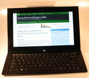 Sony VAIO Duo 11 slider-convertible tablet computer