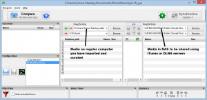 Setting up FreeFileSync for media syncing