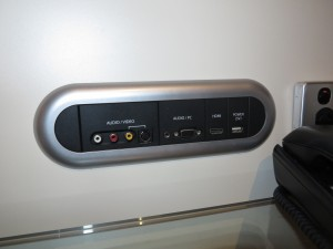 In-room AV connection panel