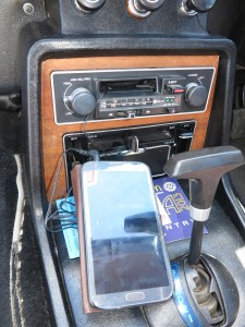 Cassette adaptor in use with a smartphone