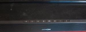 Denon DHT-T1000 TV base speaker controls