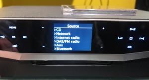 Cyrus Lyric source list - CD, Network (UPnP), Internet radio, DAB/FM radio, Aux, Bluetooth
