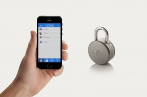Noke padlock controlled by a smartphone - press picture courtesy of Fuz Designs
