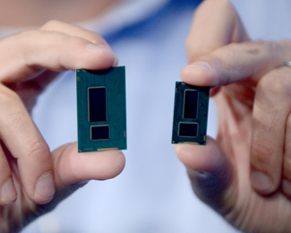 Intel Broadwell chipset compared to current Haswell chipset - Press image courtesy of Intel