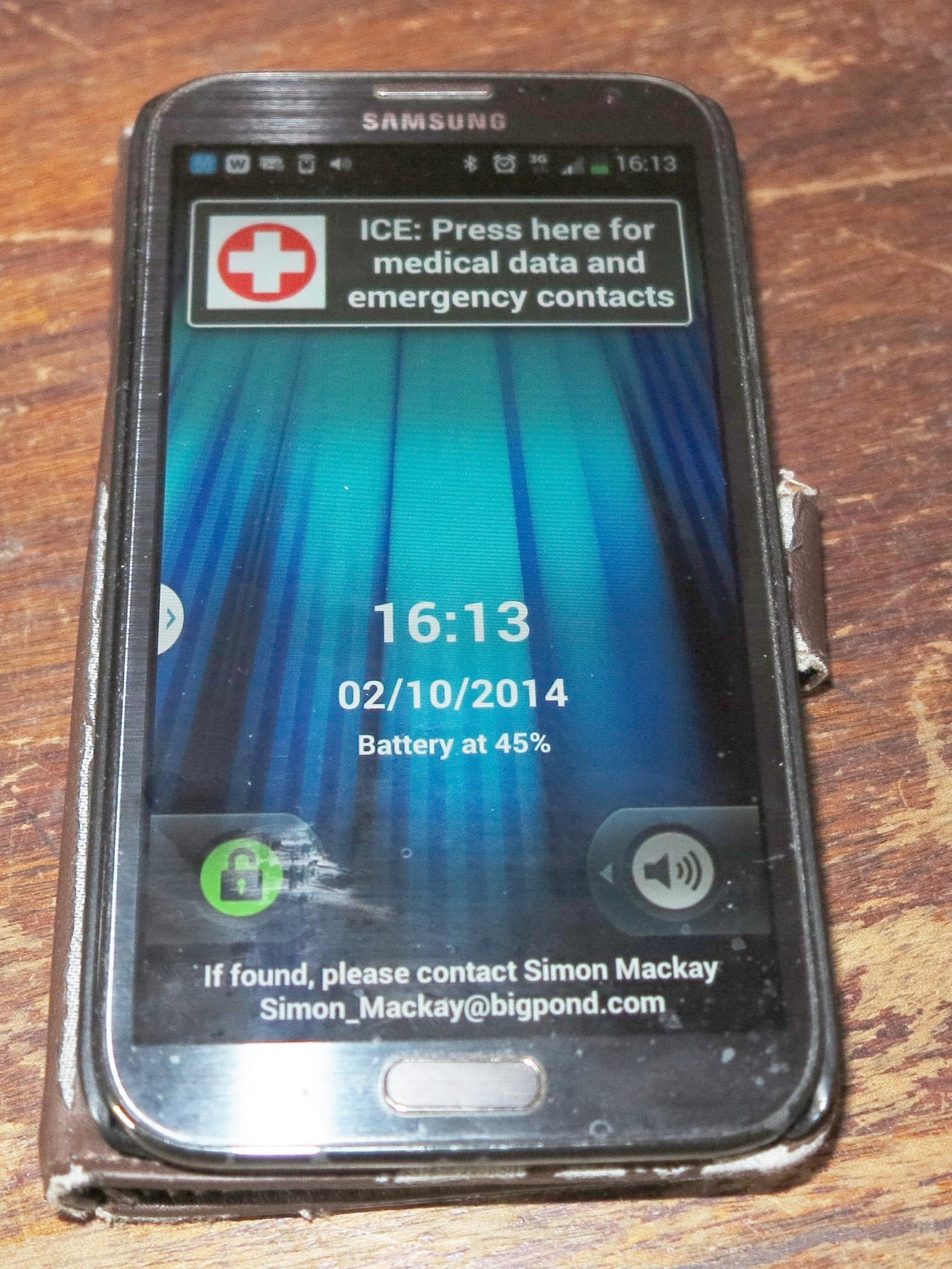 Samsung Galaxy Note 2 smartphone