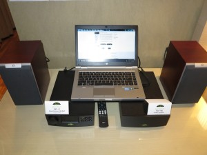 HP Elitebook 2560p playing through Naim DAC-V1 USB DAC