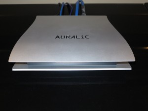 Auralic Aries network-to-digital media bridge which serves an external DAC