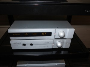 Auralic Taurus control amplifier connected to Auralic Vega DAC