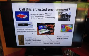 A high-resolution image from PowerPoint on a DLNA-capable Smart TV