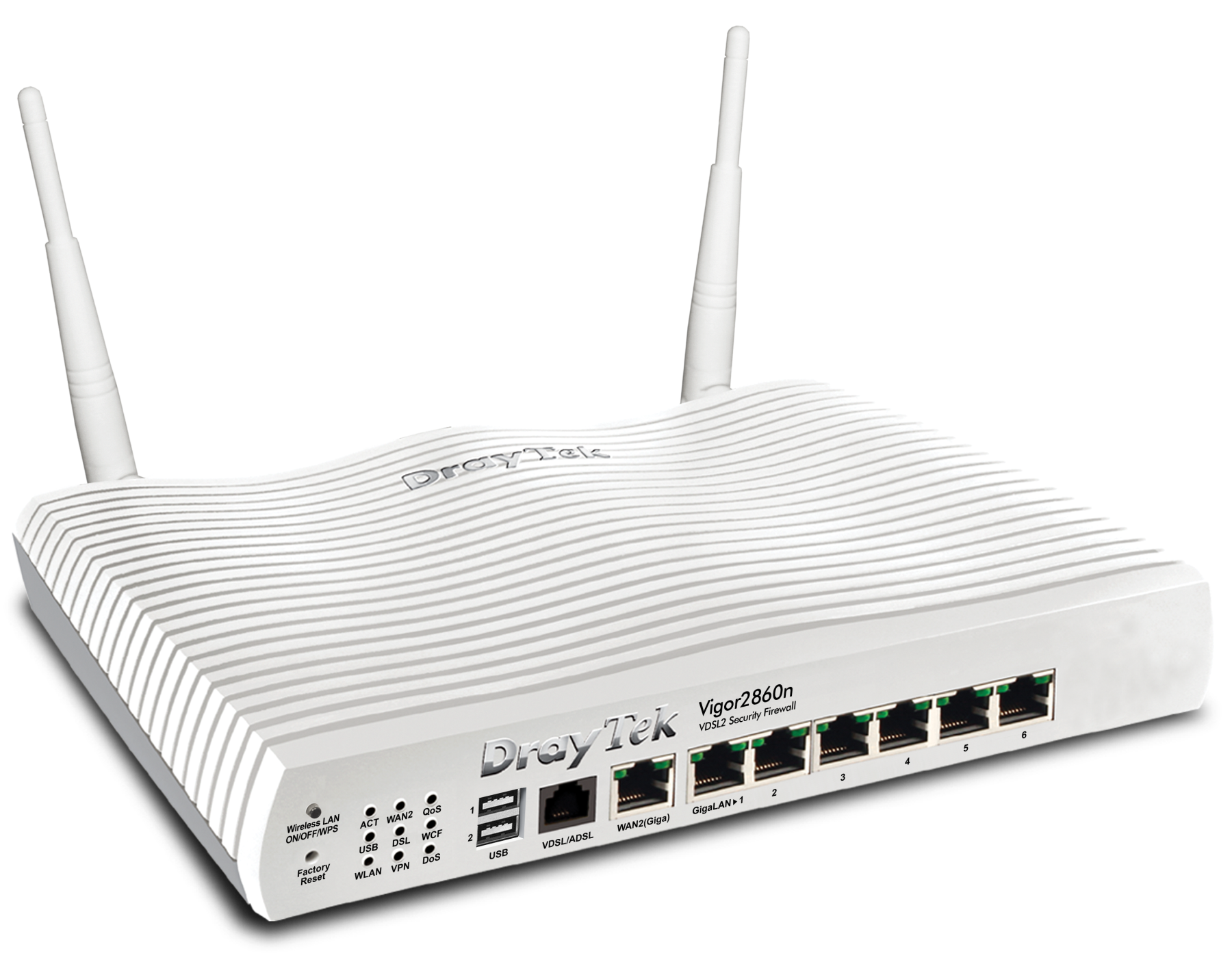 Draytek Vigor 2860N VDSL2 business VPN-endpoint router press image courtesy of Draytek UK