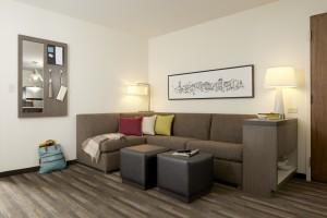 Hyatt House suite living room - press photo courtesy of Hyatt