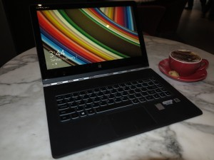 Lenovo Yoga 3 Pro convertible notebook at Rydges Hotel Melbourne