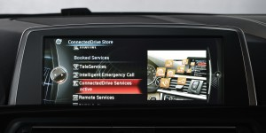 BMW ConnectedDrive user interface press picture courtesy of BMW Group