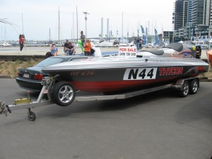 Speedboat on trailer for sale