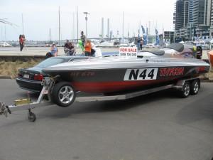 Speedboat on trailer for sale