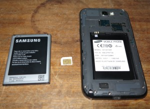 The battery, SIM and memory cards have to be removed from the device if it gets wet
