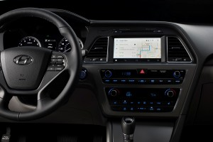 Android Auto in the 2015 Hyundai Sonata press photo courtesy of Hyundai America