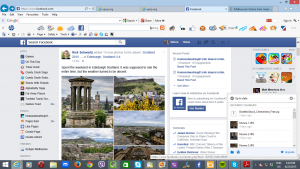 Facebook and Dropbox desktop