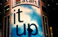 Windows 95 launch campaign billboard poster