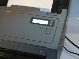 Brother PDS-6000 document scanner control panel detail
