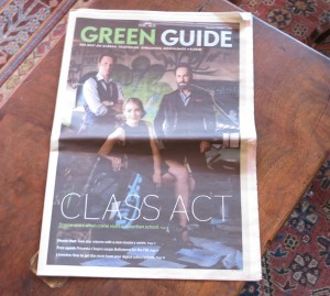 Age Green Guide TV guide on coffee table