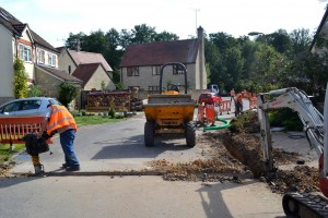Digging up a village street - press picture courtesy of Gigaclear