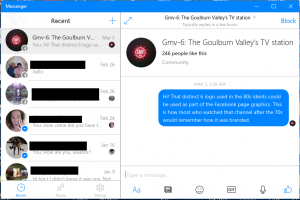 Facebook Messenger Windows 10 native client