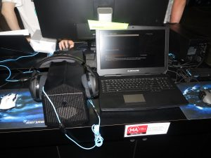 Alienware high-performance laptop computer with Graphics Amplifier external GPU module