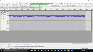 Audacity audio-editor software recording
