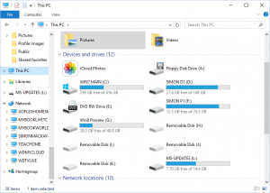 Windows 10 File Manager - logical volumes