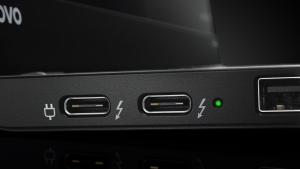 Lenovo ThinkPad X1 Carbon USB-C Thunderbolt-3 detail image - press picture courtesy of Lenovo USA