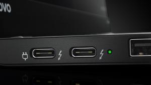 Lenovo ThinkPad X1 Carbon USB-C Thunderbolt-3 detail image - press picture courtesy of Lenovo USA