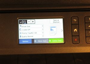 Brother MFC-J5730DW multifunction inkjet printer detailed function display