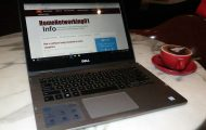 Dell Inspiron 13 7000 2-in-1 laptop at Rydges Melbourne hotel