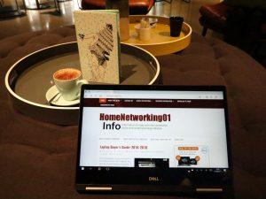 Dell Inspiron 13 7000 2-in-1 Intel 8th Generation CPU at QT Melbourne hotel - presentation mode