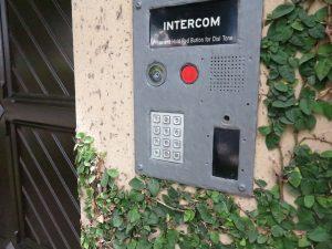 Intercom panel with codepad
