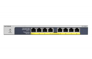 NETGEAR GS108PP ProSafe Gigabit Unmanaged 8-port Switch with Power-Over-Ethernet Plus press picture courtesy of NETGEAR