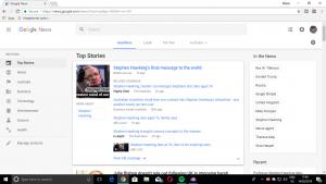 Google News - desktop Web view