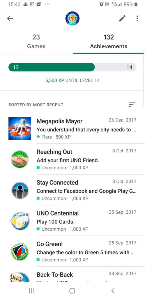 Google Play Games app