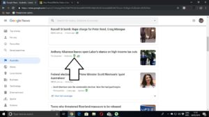 Google News on Chrome with NewsGuard in place