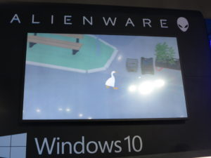 Untitled Goose Game on Alienware stand at PAX 2019