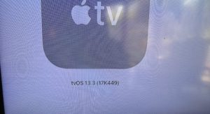 tvOS 13.3 confirmed in Software Updates Screen