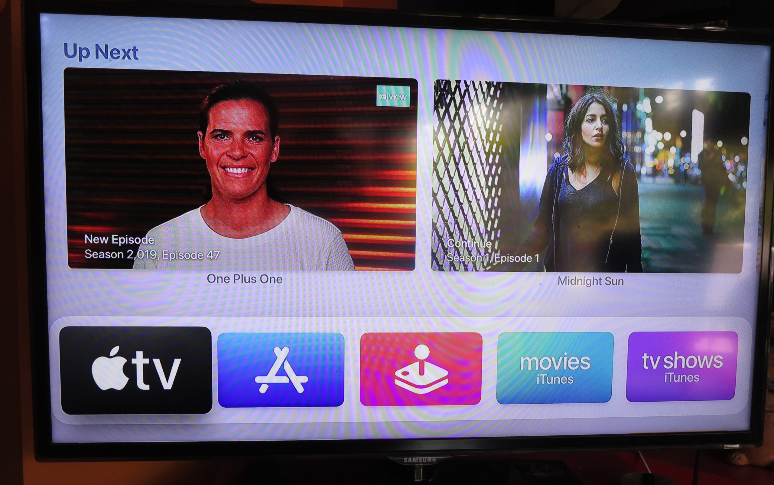 tvOS Apple TV with Up Next list