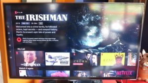Netflix menu screen - favourites